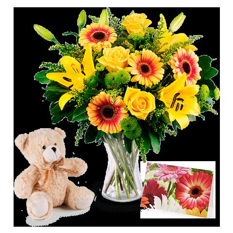 envoyer un bouquet de fleurs jaunes floraqueen. Black Bedroom Furniture Sets. Home Design Ideas
