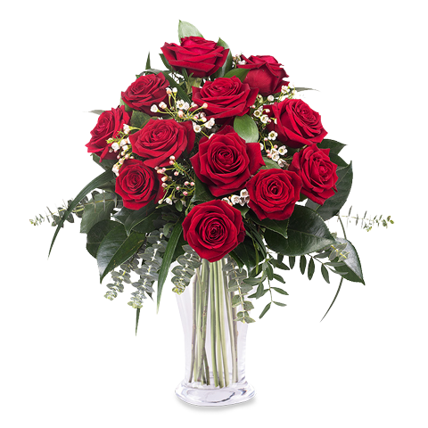 Envoyer un bouquet de 12 roses rouges floraqueen for Envoyer bouquet