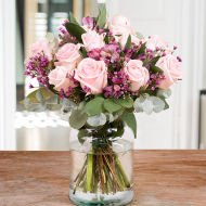 Pink Bubbles: Roses and Alstroemerias