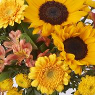 Seminyak: Tournesols et Chrysanthèmes
