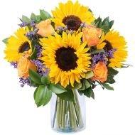 Van Goghs Vision: Sonnenblumen und Limonium