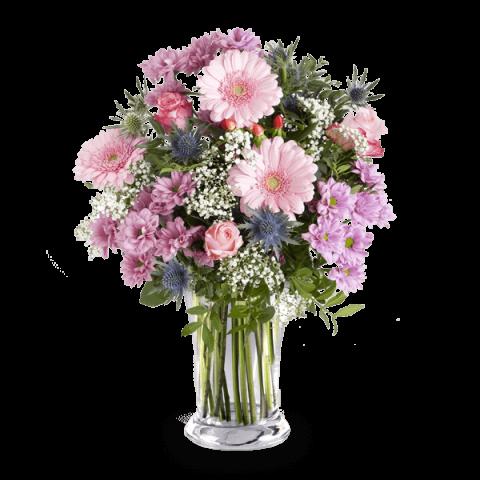 Pinker Zauber: Rosen und Gerbera