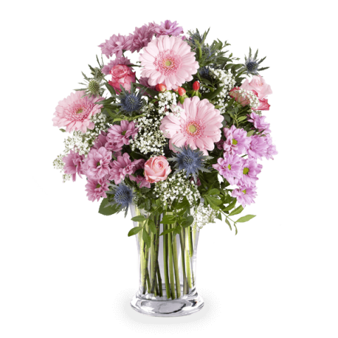 Pink Spell: Roses and Gerberas