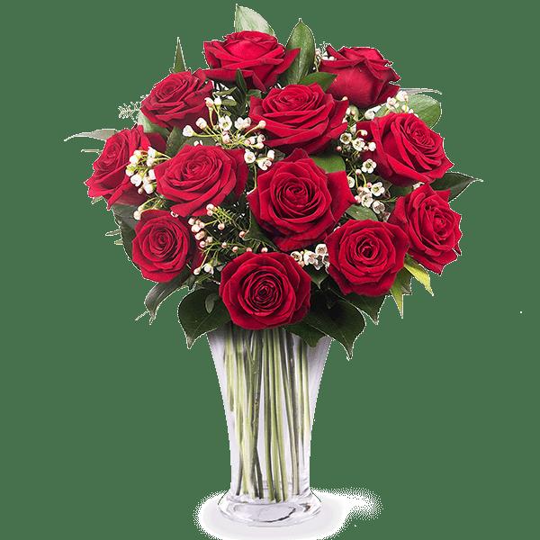 15 rote rosen im strau blumenversand weltweit floraqueen. Black Bedroom Furniture Sets. Home Design Ideas
