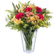 Colours of Autumn: Carnations and Alstroemerias